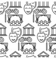 theatre drama and comedy mask audience seamless vector image