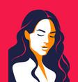 trendy woman poster minimalist portrait female vector image