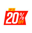 up to 20 percent off sale template isolated