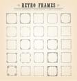vintage old-fashioned frames vector image vector image