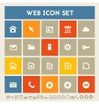 Web icon set Multicolored square flat buttons vector image vector image