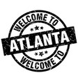 welcome to atlanta black stamp vector image vector image