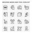 welding work icon vector image vector image