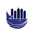 whale town logo vector image