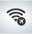 wifi connection signal icon with plane or airport vector image vector image