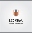 company abstract logo vector image