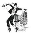 young girl dances hip-hop vector image