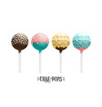 cake pops set vector image