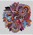 floral tattoo artwork on transparent background vector image