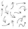 Hand drawn arrows pointers vector image