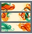 Hairstyle horizontal banners vector image
