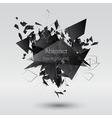 Abstract black explosion vector image vector image