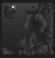 abstract iphone 11 pro vector image vector image
