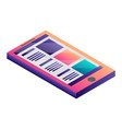 abstract smartphone icon isometric style vector image vector image
