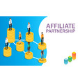 affiliate partnership concept flat vector image