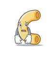 afraid macaroni mascot cartoon style vector image vector image