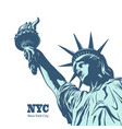 american symbol - statue liberty new york usa vector image