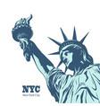 american symbol - statue liberty new york usa vector image vector image