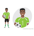 black african american football character soccer vector image