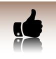 Black Hand icon vector image vector image