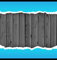 blue torn paper wood background vector image vector image