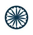 blue wheel on white background vector image