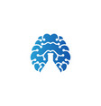 brain and negative space of test tube logo vector image vector image