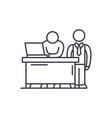 business mentor line icon concept business mentor vector image vector image