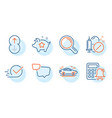 calculator alarm research and loyalty points vector image vector image