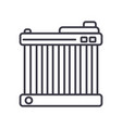 car battery line icon sign vector image