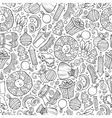 cartoon cute hand drawn xmass seamless pattern vector image vector image