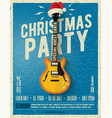 christmas party poster or flyer design template vector image