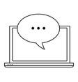computer screen techonology icon cartoon in black vector image vector image