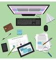 Concept of business workplace vector image vector image