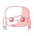 cute girl head drawing character vector image vector image