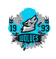 design for printing on t-shirts a wolf howling at vector image