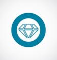 diamond icon bold blue circle border vector image vector image