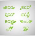 ecology icon set eco-icons vector image