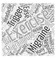 Exercise to Ease Migraines Word Cloud Concept vector image vector image