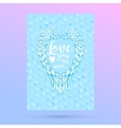 Feathers and wings frame in heart shape card for vector image