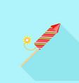 festive rocket icon flat style vector image