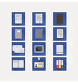 Flat icons for business vector image vector image