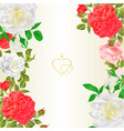 floral border vertical background with blooming vector image vector image