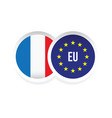 france european union badge vector image