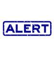 grunge blue alert word square rubber seal stamp vector image vector image