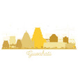 guwahati india city skyline silhouette with vector image vector image