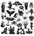 halloween icon set simple style vector image