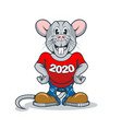 happy rat symbol 2020 on chinese calendar vector image