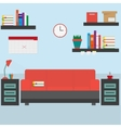 Home workplace flat design vector image