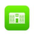 hospital icon digital green vector image vector image